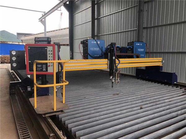 Automatiseeritud CNC plasma lõikamismasin topelt sõites 4m span 15m rööbastel