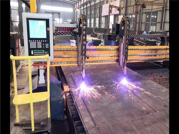 Kahekordse ajamiga pukk-CNC-plaadilõikepink H-tala tootmisliin Hypertherm CNC-süsteem
